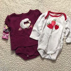 Girl long sleeve bodysuit bundle